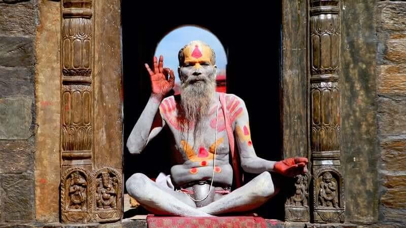 Индуизм поза лотоса