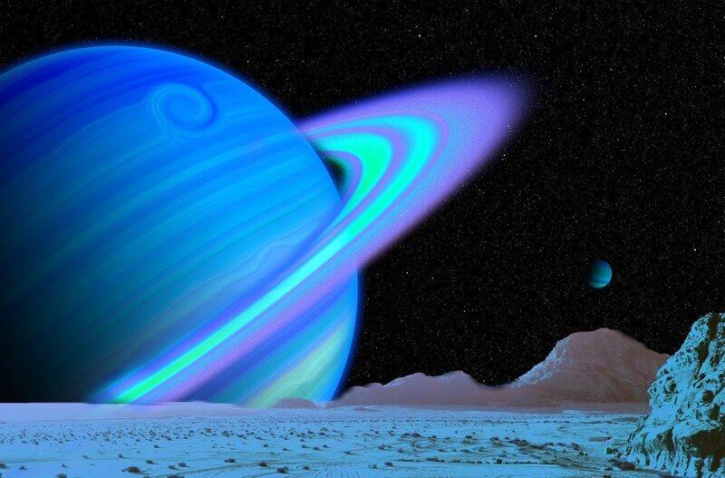 Планета Уран вид со спутника