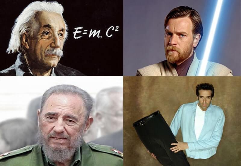 Эйнштейн Макгрегор Копперфильд Кастро коллаж