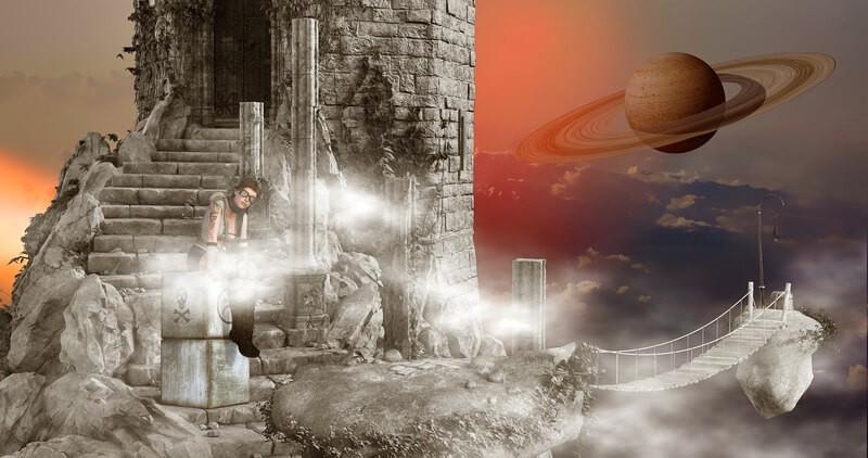 Лестница развалины сатурн