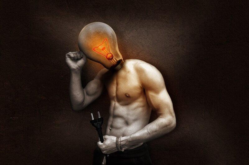 Мужчина лампочка