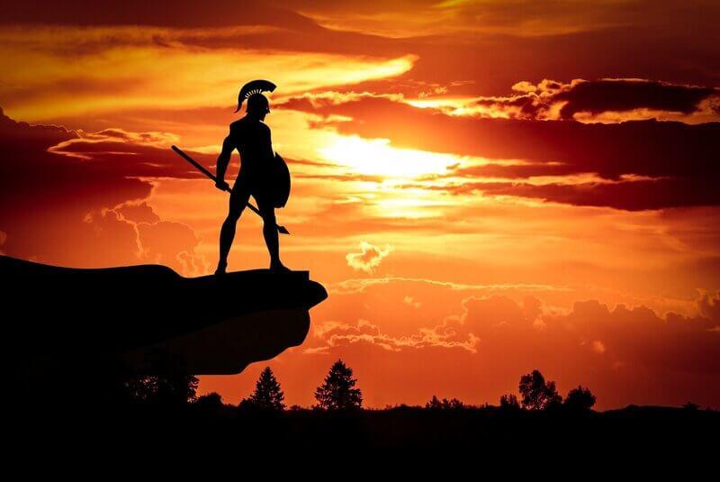 Спартанский воин закат