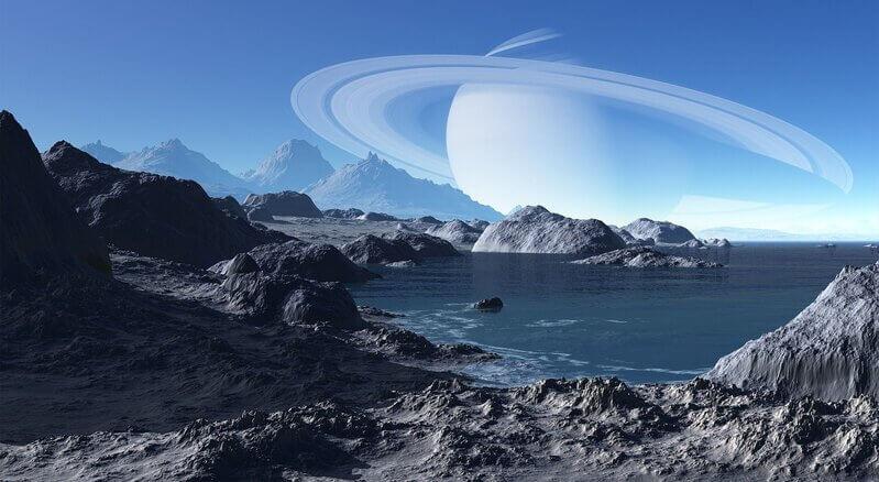 Сатурн пейзаж природа