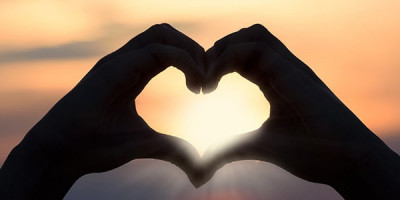 Сердце символ закат