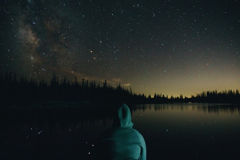 звездное небо пейзаж озеро