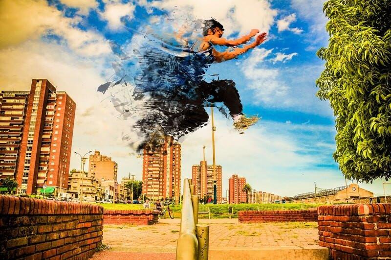 Город прыжок стремление