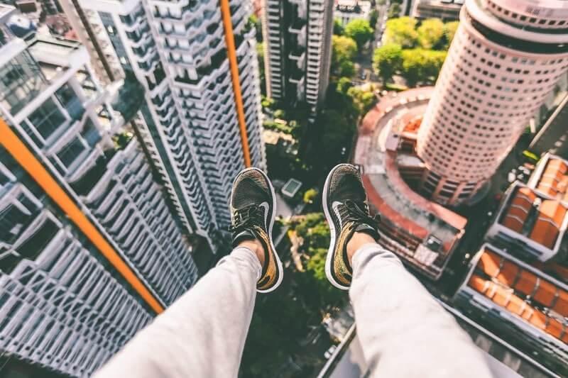 Ноги город с верху