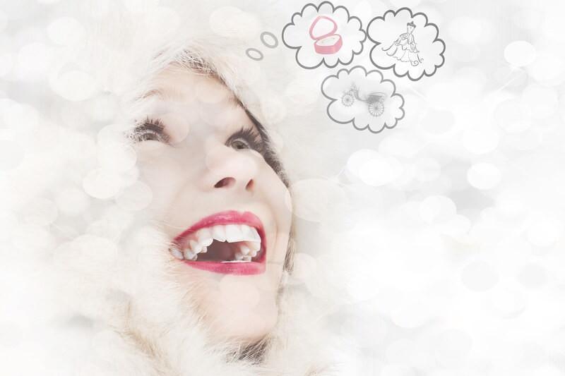 Женщина улыбка мечты