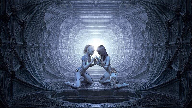 Фэнтези туннель девушки