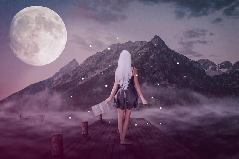 Девочка луна горы