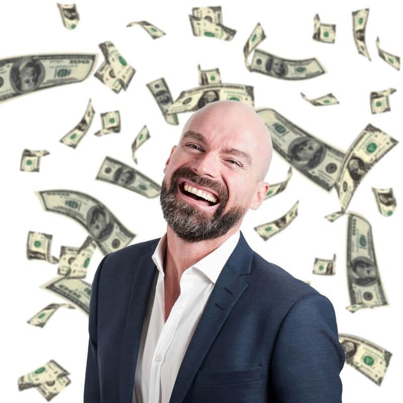 Мужчина доллары
