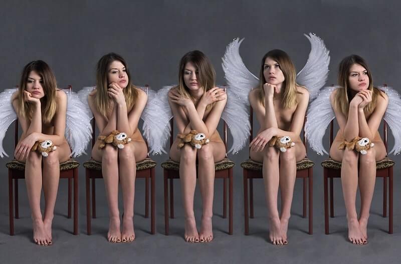 Девочка ангел эмоции