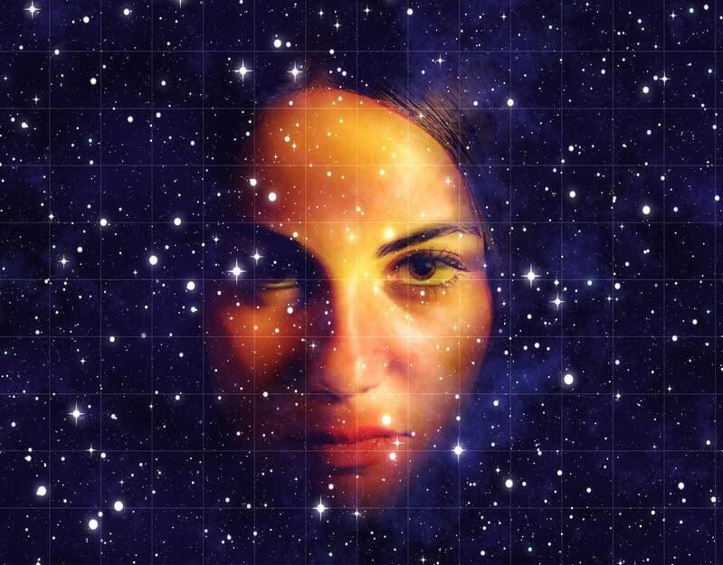 Лицо космос звезды