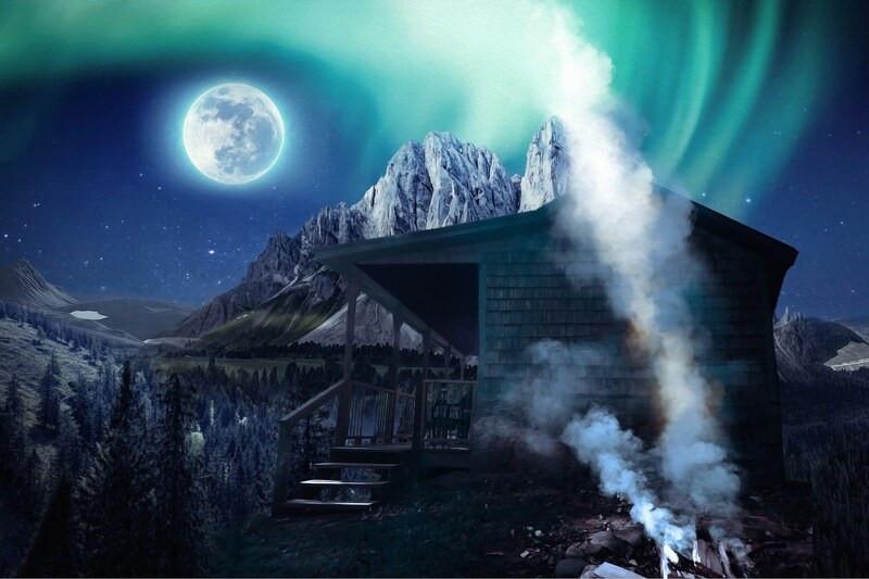 Дом гора луна