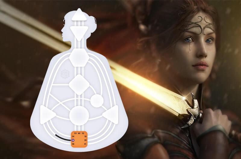 Женщина воин с мечом