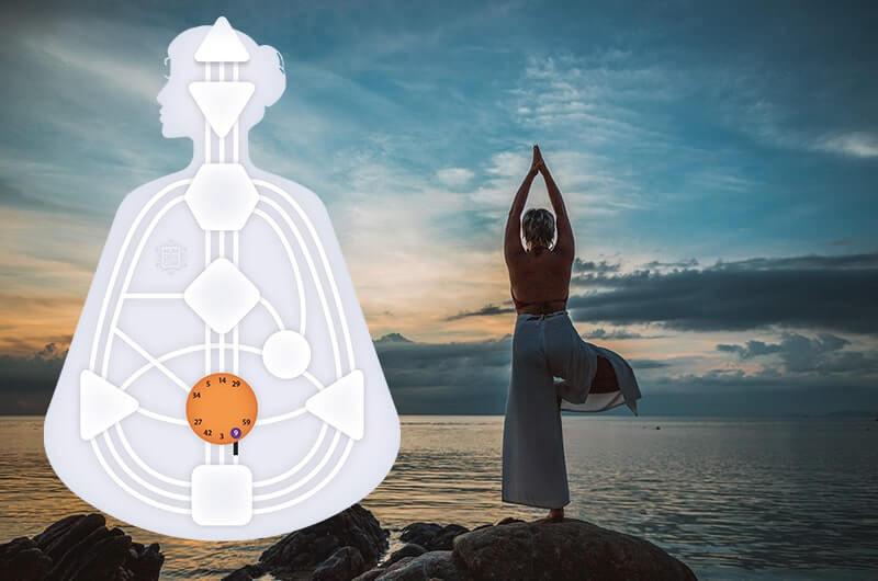 Море небо йога концентрация