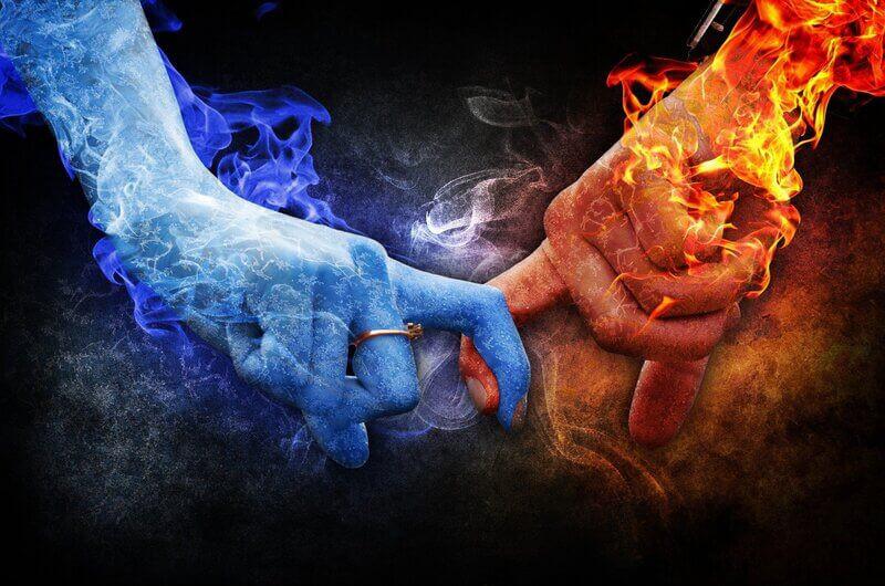Руки лед огонь