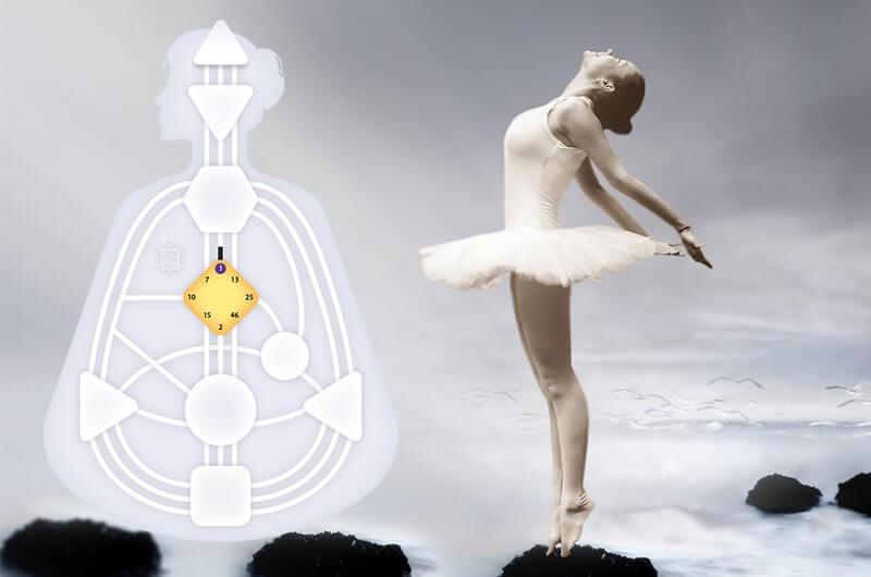 Балерина вода свет