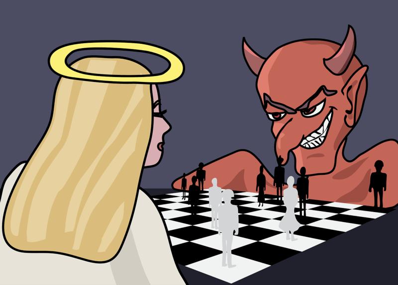 ангел дьявол шахматы